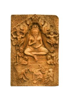 Free Buddha Carved A Low Relief Royalty Free Stock Photos - 19804508
