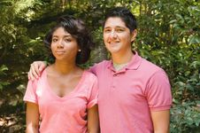 Handsome Teenage Couple Stock Image