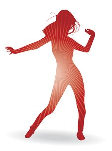 Free A Dancing Woman Stock Photography - 19807292