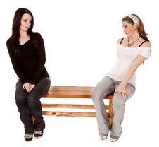 Free Not Sharing Bench Royalty Free Stock Photography - 19808227