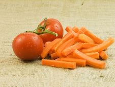 Free Tomato And Carrots Royalty Free Stock Image - 19808546
