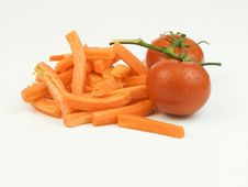 Free Carrots And Tomatoes1 Royalty Free Stock Photography - 19808557