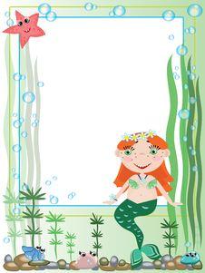 Free Mermaid,frame Royalty Free Stock Photo - 19808725