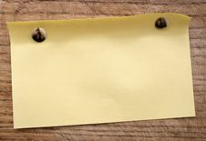 Yellow Blank Royalty Free Stock Photography