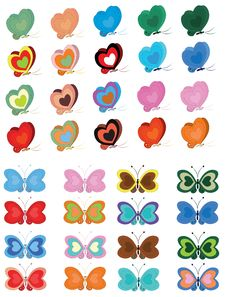 Free Set Butterflies Stock Image - 19809221