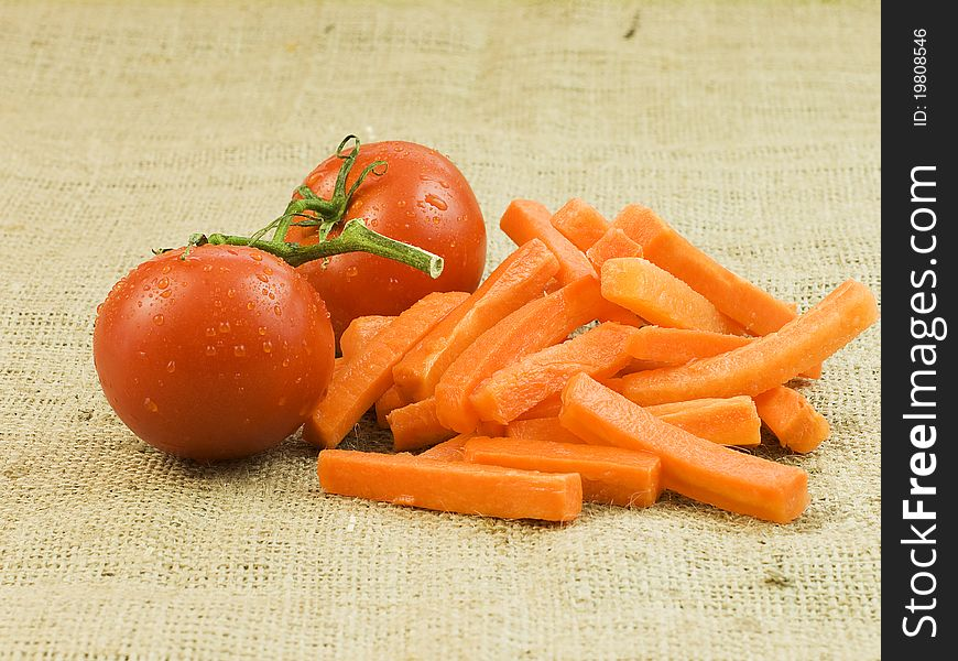Tomato and carrots
