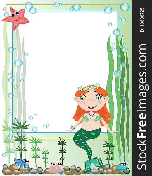 Mermaid,frame - Free Stock Images & Photos - 19808725 ...