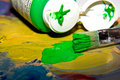 Free Bright And Colorful Paint And Paintbrush Royalty Free Stock Images - 19813519