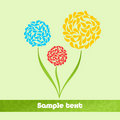 Free Abstract Flowers Green Background Royalty Free Stock Photography - 19813577