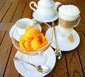 Free Ice Cream And Coffee Latte Royalty Free Stock Photos - 19814248