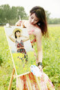 Free Young Female Artist Royalty Free Stock Images - 19815119