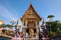 Free Thai Temple With Giant At The Gate Royalty Free Stock Image - 19819176