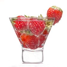 Free Strawberry Drink Royalty Free Stock Image - 19810366