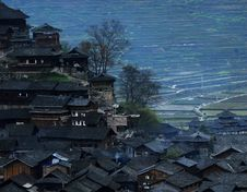 Village In A Mountainous Area Stock Photography