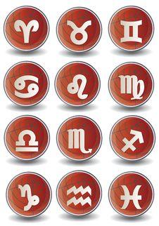 Free Zodiac Globe Icons Stock Photo - 19810800