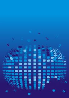 Free Mosaic Sphere On A Blue Background Royalty Free Stock Photos - 19811698