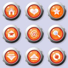 Free A Set Of Round Internet Buttons Royalty Free Stock Photography - 19812737
