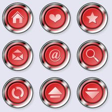 A Set Of Round Internet Buttons Stock Photo