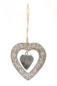 Free Hanging Heart Ornament Royalty Free Stock Photography - 19812857