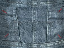 Free Jeans Texture Royalty Free Stock Photography - 19814027