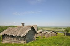 Russian Village Stock Photography