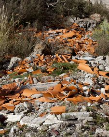Free Fly Tipped Rubble Royalty Free Stock Photos - 19814758