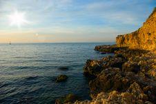 Rocks On The Sea Coast Royalty Free Stock Image