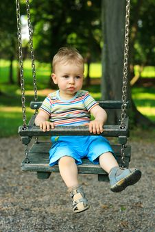Free Little Boy Swinging Royalty Free Stock Photos - 19814898
