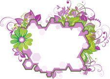 Floral Text Place Stock Photo