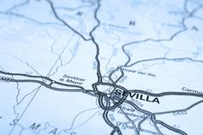 Free Seville Map Royalty Free Stock Image - 19815406