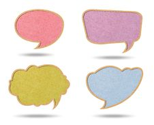 Free Speech Bubbles From Recycle Paper Royalty Free Stock Photos - 19817308