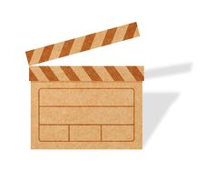 Free Blank Movie Clapper Boards From Cardboard Stock Image - 19817651
