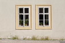 Free Two Cottage Windows Stock Photography - 19818062