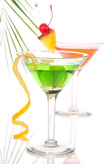 Free Summer Tropical Martini Cocktails With Vodka Royalty Free Stock Photo - 19818295