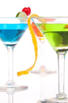 Summer Tropical Martini Cocktails With Vodka Royalty Free Stock Photos