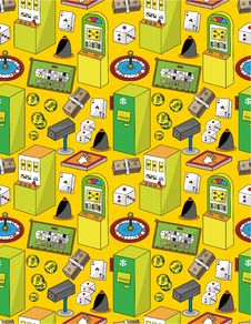 Free Seamless Cartoon Casino Pattern Royalty Free Stock Image - 19818446