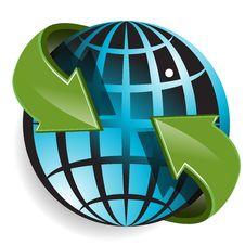 Free Globe And Green Arrows Stock Photos - 19818543