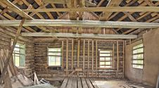 Panorama Of Abandoned House Stock Images