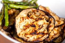 Free Grilled Eggplants And Asparagus Stock Image - 19818801