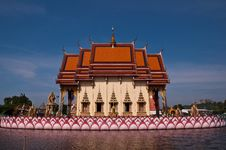 Temple In The Lake Royalty Free Stock Image
