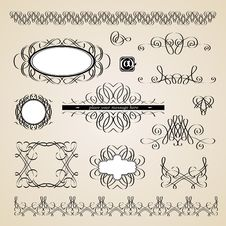 Free Calligraphic Design Elements Stock Photography - 19819502
