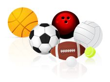 Free Ball Set Royalty Free Stock Photos - 19819928