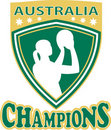 Free Neball Player Australia Champions Stock Photo - 19820700