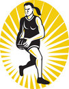 Free Netball Player Running With The Ball Stock Image - 19820701