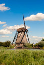 Free Windmill Landscape At Kinderdijk The Netherlands Stock Photo - 19828550