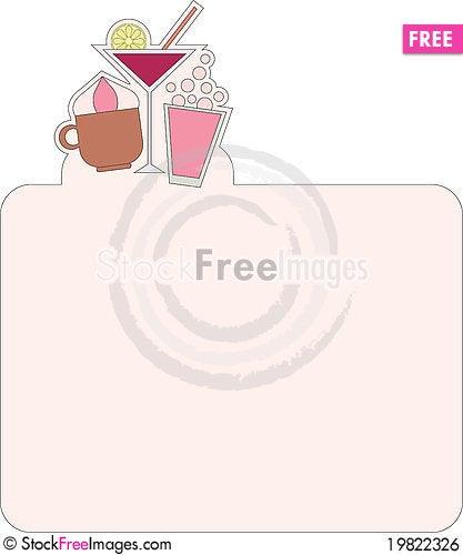 Free Menu Or Recipe Pattern Royalty Free Stock Image - 19822326