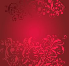 Free Ornamental Red Background Stock Images - 19820404