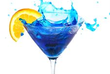 Free Blue Cocktail With Orange Royalty Free Stock Images - 19820659