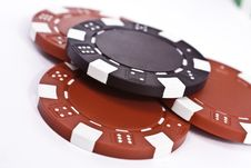 Free Poker Chips Royalty Free Stock Photography - 19821917
