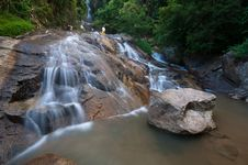 Beautiful Waterfall In Samui Island Thailand Royalty Free Stock Images